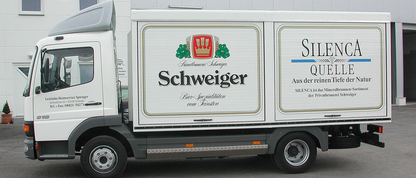 Getranke und Kofferaufbau Golbrunner in Eching